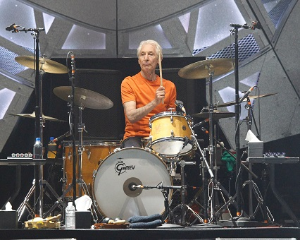 Rolling Stones legend Charlie Watts donates signed drum to