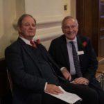 Sir Michael Morpurgo with Peter Rhys Evans