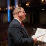 Sir Michael rehearsing