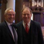 Peter Rhys Evans with Sir Michael Morpurgo