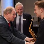 Sir Michael Morpurgo, Peter Rhys Evans and Rob Burton